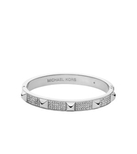 Michael Kors Pave Studded Silver Tone Bangle