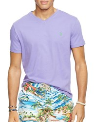 Polo Ralph Lauren Jersey V Neck T Shirt Purple