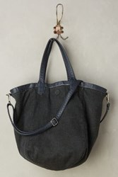 Anthropologie Reversible Vegan Leather Tote Black