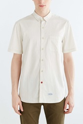 Cpo Hollis Washed Short Sleeve Button Down Shirt White
