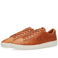Fred Perry Spencer Waxed Leather Sneaker Brown