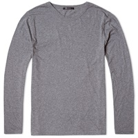 T By Alexander Wang Long Sleeve Classic Tee Heather Grey