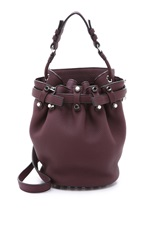 Alexander Wang Diego Small Bucket Bag Oxblood