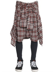 R 13 R13 Plaid Flannel Shorts W Shirt And Leggings