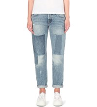 Levi's 501 Ct Slim Fit Mid Rise Jeans Stacked Patch