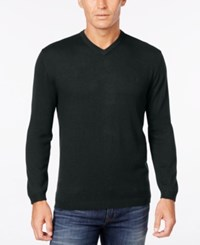 Weatherproof Vintage Men's Big And Tall V Neck Sweater Only At Macy's Black
