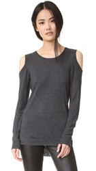 Feel The Piece Remy Cold Shoulder Sweater Charcoal