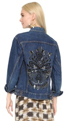Figue Tribal Mask Denim Jacket