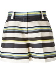 Jil Sander Navy Striped Shorts Multicolour