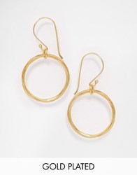 Mirabelle Gold Plated Loop Earrings Gold