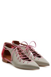 Malone Souliers Leather Lace Up Flats Multicolor