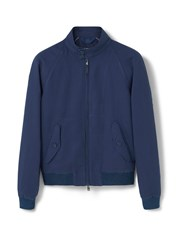 Mango Linen Cotton Blend Jacket Blue