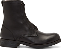 Diesel Black Leather Johnny The Riot Boots