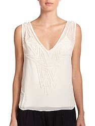 Ramy Brook Perry Chiffon Star Tank Top