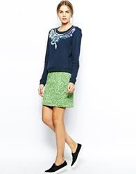 Emma Cook Quilted Pencil Skirt Neongreenmarl