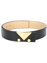 Emporio Armani Logo Plaque Belt Black