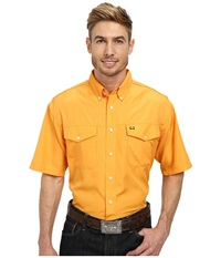 Cinch Athletic Solid Double Pocket Shirt Orange Men's Clothing