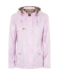 Aquascutum London Club Check Reversible Hooded Jacket Lilac