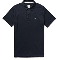 Rag And Bone Standard Issue Cotton Blend Polo Shirt Blue
