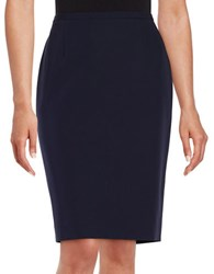 Tommy Hilfiger Back Vent Accented Pencil Skirt Midnight