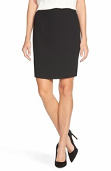 Cece By Cynthia Steffe Crepe Pencil Skirt Rich Black