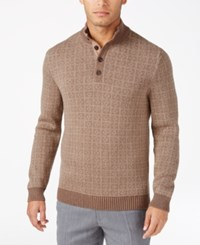 Tasso Elba Men's Four Button Sweater Only At Macy's Dill Seed