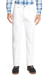 Peter Millar Men's Big And Tall Stretch Sateen Five Pocket Pants Pure White