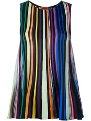 Missoni Striped Knitted Sleeveless Top Multicolour