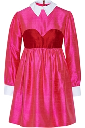 House Of Holland Aurora Silk Shantung Mini Dress