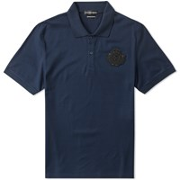 Alexander Mcqueen Military Badge Polo Blue
