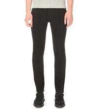 Allsaints Crow Cigarette Slim Fit Skinny Jeans Jet Black