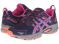 Asics Gel Venture 5 Indigo Blue Pink Glow Living Coral Women's Running Shoes