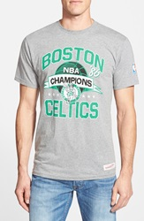 Mitchell Ness 'Boston Celtics' Graphic T Shirt Heather Grey