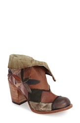 Freebird 'Flower' Ankle Boot Women Brown Multi