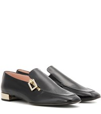 Roger Vivier Polly Patent Leather Loafers Black