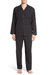 Nordstrom Men's Big And Tall Men's Shop '824' Flannel Pajama Set Charcoal Heather