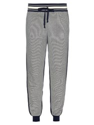 Orley Micro Stitch Cotton Track Pants Navy