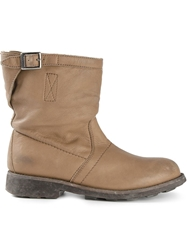Bikkembergs Distressed Boots Nude And Neutrals