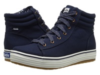 Keds High Rise Lace Up Navy Canvas Women's Lace Up Casual Shoes Blue