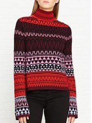 Mcq By Alexander Mcqueen Fairisle Roll Neck Jumper Multicolour