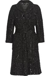 Marc Jacobs Sequined Boucle Coat Black