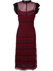 Philosophy Di Lorenzo Serafini Ruffle Sleeve Embroidered Dress