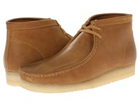 Clarks Wallabee Boot Mustard Leather Men's Lace Up Boots Yellow