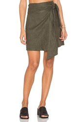 Sir The Label Cheyne Wrap Skirt Army