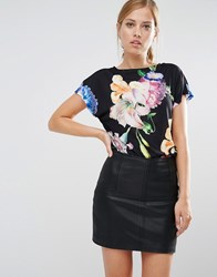 Ted Baker Woesy T Shirt In Tapestry Floral Print Multi