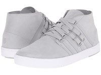 K Swiss D R Cinch Chukka Highrise White Suede Men's Shoes Gray