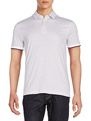 Saks Fifth Avenue Mini Circle Polo Shirt Plum