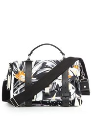 Proenza Schouler Ps1 Medium Flora Canvas Satchel White Multi