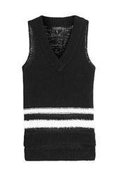 Rag And Bone Rag And Bone Cotton Knit Halter Top Black