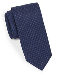 Hugo Narrow Microdot Tie Navy